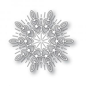 Memory Box Stanzschablone - Holiday Heart Snowflake