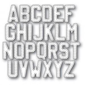 Memory Box Stanzschablone - Vintage Varsity Alphabet