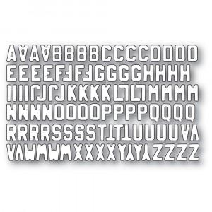 Memory Box Stanzschablone - Mini Vintage Varsity Alphabet