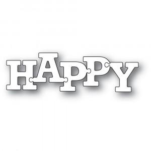 Memory Box Stanzschablone - Happy Puzzle Letters
