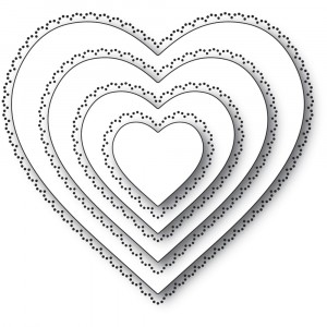 Memory Box Stanzschablone - Scallop Pinpoint Loving Heart Cut Out