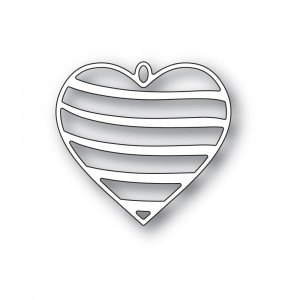 Memory Box Stanzschablone - Banded Heart Locket