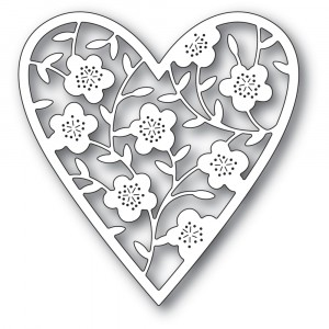 Memory Box Stanzschablone - Floral Bouquet Heart