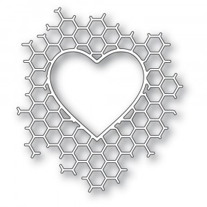 Memory Box Stanzschablone - Honeycomb Heart