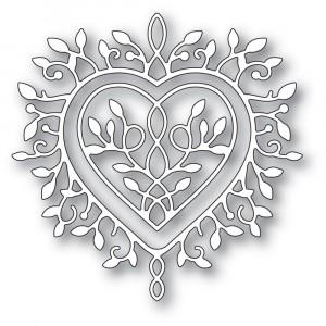 Memory Box Stanzschablone - Champagne Heart