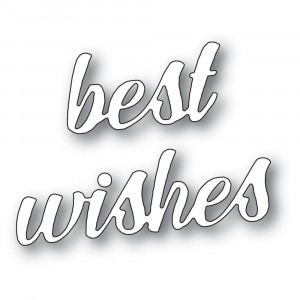 Memory Box Stanzschablone - Best Wishes Banner Script