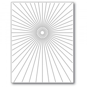 Memory Box Stanzschablone - Pinpoint Burst Plate