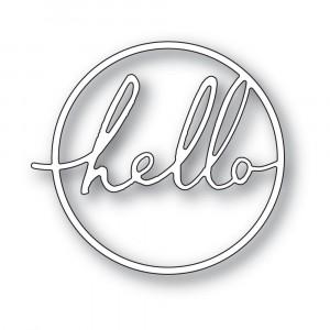 Memory Box Stanzschablone - Hello Cursive Script Circle