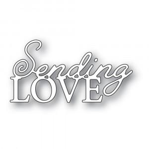 Memory Box Stanzschablone - Sending Love Posh Script
