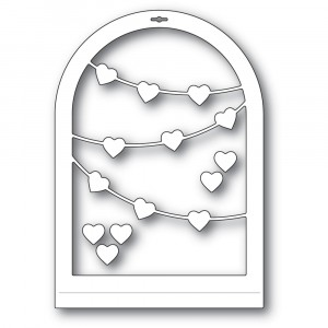 Memory Box Stanzschablone - Heart Streamer Globe