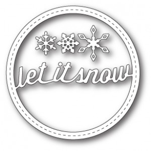 Memory Box Stanzschablone - Stitched Let It Snow Circle Frame