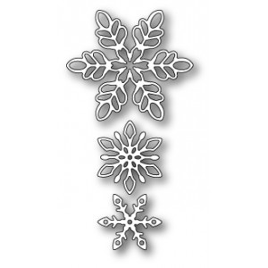 Memory Box Stanzschablone - Shimmering Snowflakes