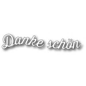 Memory Box Stanzschablone - Curved Danke Schön