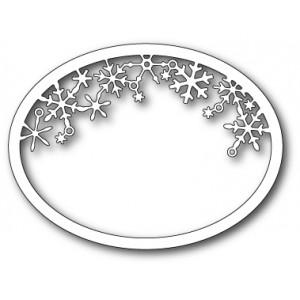 Memory Box Stanzschablone - Snowflake Oval Frame