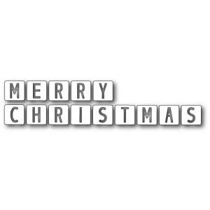 Memory Box Stanzschablone - Merry Christmas Tiles