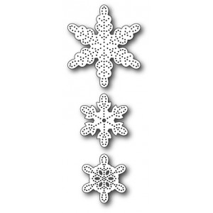 Memory Box Stanzschablone - Pinpoint Snowflakes