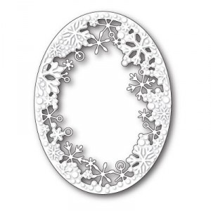 Memory Box Stanzschablone - Dancing Snowflake Oval