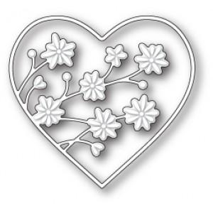 Memory Box Stanzschablone - Drifting Flowers Heart