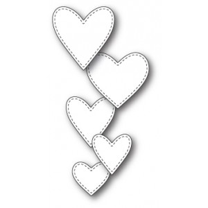 Memory Box Stanzschablone - Classic Stitched Heart Collection