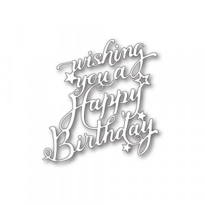 Memory Box Stanzschablone - Happy Birthday Elegant Script