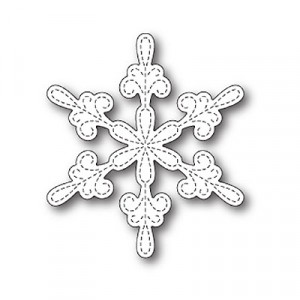 Memory Box Stanzschablone - Chancery Snowflake Outline - 20% RABATT