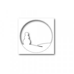 Memory Box Stanzschablone - Stitched Circle Snowman