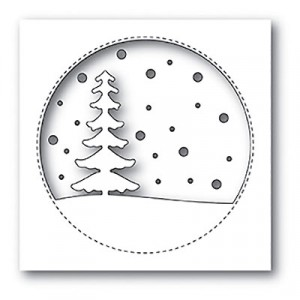 Memory Box Stanzschablone - Snowy Tree Circle - 20% RABATT