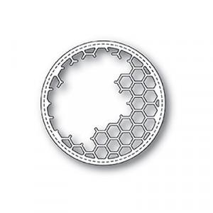 Memory Box Stanzschablone - Honeycomb Stitched Circle Frame
