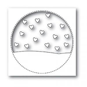 Memory Box Stanzschablone - Stitched Circle Heartscape