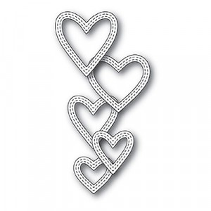 Memory Box Stanzschablone - Classic Double Stitched Heart Rings