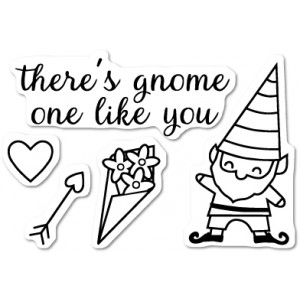 Memory Box Stempel - Gnome One Like You Clear Stamp Set