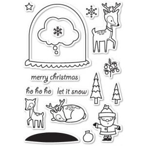Memory Box Stempel-Set - Snowglobe Wishes
