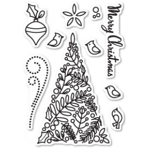 Memory Box Stempel-Set - Botanical Christmas Tree