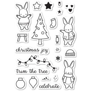 Memory Box Stempel-Set - Holiday Bunnies
