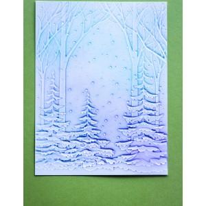 Memory Box 3D Prägeschablone - Snowy Forest 3D Embossing Folder
