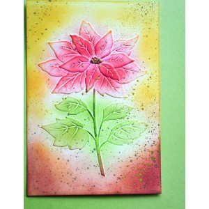 Memory Box 3D Prägeschablone - Magnificent Poinsettia 3D Embossing Folder
