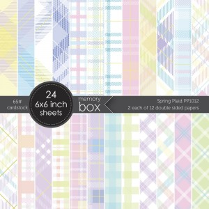 Memory Box Paper Pack 6 x 6 - Spring Plaid