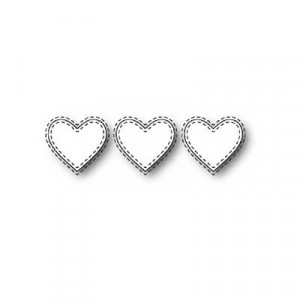 Memory Box Stanzschablone - Triple Stitched Heart
