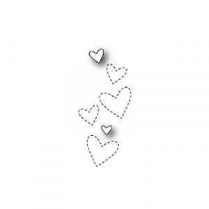 Poppy Stamps Stanzschablone - Wispy Hearts