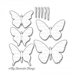 My Favorite Things Die-Namics Die - Flutter Of Butterflies Solid