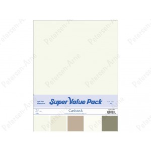 Paper Accents Cardstock Super Value Pack 40 Blatt - Khaki
