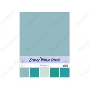 Paper Accents Cardstock Super Value Pack 40 Blatt - Aqua