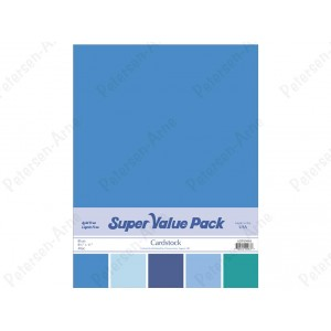 Paper Accents Cardstock Super Value Pack 40 Blatt - Blues