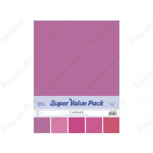 Paper Accents Cardstock Super Value Pack 40 Blatt - Pink
