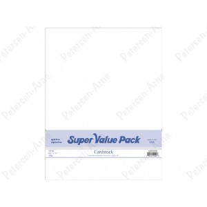 Paper Accents Cardstock Super Value Pack 50 Blatt - Weiß