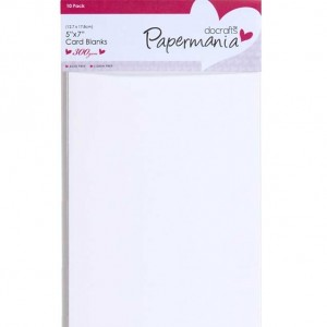 Papermania Cardpack 5x7 Karten und Umschläge - 10 Stück weiß