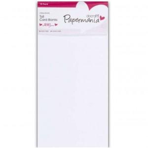 Papermania Cardpack DIN Lang Karten und Umschläge - 10 Stück weiß