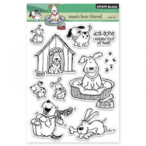 Penny Black Clear Stamps - Man's best friend
