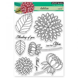 Penny Black Clear Stamps - Dahlias