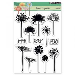 Penny Black Clear Stamps - Flower Sparks